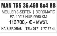 MAN TGS 35.460 8x4 BB