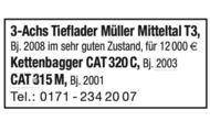 3-Achs Tieflader Müller Mitteltal T3 u.a.