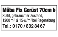 Müba Fix Gerüst 70cm b