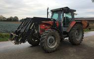 Traktor mit Frontlader MF B 105/4 Massey Ferguson, 107 PS
