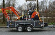 Minibagger Kubota KX 41 3V mit  Anhänger