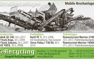 Occasionsanlagen / Mobile Brechanlage