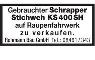 Gebrauchter Schrapper Stichweh KS400SH