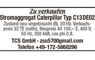 Stromaggregat Caterpillar Typ C13DE02