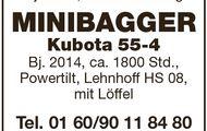 TIEFLADER Müller-Mitteltal, MINIBAGGER Kubota
