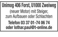 Unimog 406 Forst, U1000 Zweiweg