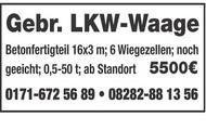 Gebr. LKW-Waage